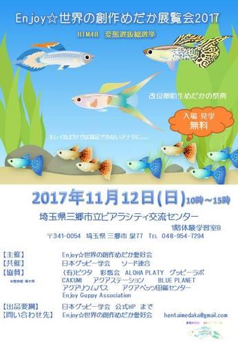 Enjoy☆世界の創作めだか展覧会2017ポスターPP④JPEG20171009.jpg